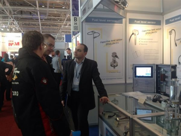 CeBIT-2015; control of fuel in stationary tanks, control of Liquefied natural gas; ultrasonic level sensor